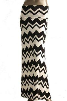 ZigZag Skirt-Black/White