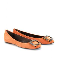 Orange and tortoise, two faves... Must have.... Roger Vivier