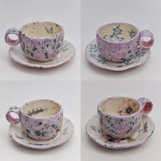 """Joanna Szwej-Hawkin on Instagram: """"Espresso cups (and saucers). At Art@57  Today 26th October, 10am-4pm. 57 North Cross Road, London.  @artat57  #ceramics #espressocups…"""" Espresso Cups, Cup And Saucer, Tea Cups, October, Pottery, Ceramics, London, Jewellery, Mugs"""