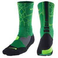 Nike Lebron Hyperelite Basketball Crew - Men's - LeBron James - Green / Light Green