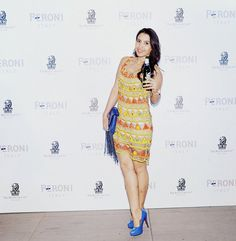 Fashionista Shalini Chopra of Stylish By Nature keeping it super stylish in a beaded bling dress by #PIAPauro. #PeroniAperitivo  Shop now: piapauro.com