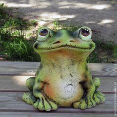 """Купить Лягушка """"Жанна"""" - разноцветный, лягушка, лягушонок, лягушки, шамот, керамика ручной работы, глина"""