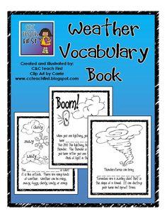 Weather Vocabulary Book