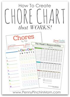 How to Create Chore Chart that WORKS! Organize your family and life!