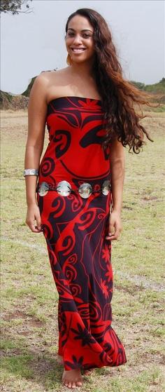 Kaloko Dress by Wahine Toa Samoan Dress, Tahitian Costumes, Island Style Clothing, Island Wear, Tapas, Polynesian Designs, Tropical Dress, Swagg, Dress To Impress