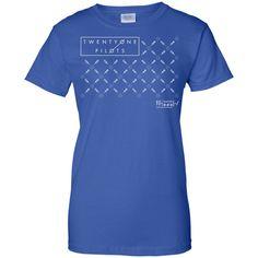 Twenty One Tshirt Pilot Fancy T-Shirt-01 Ladies Custom 100% Cotton T-Shirt