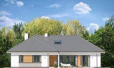 Projekt domu Willa Parterowa 2 135,75 m² - koszt budowy - EXTRADOM Civil Construction, Bungalow House Design, Dream House Plans, Home Fashion, Planer, Garage Doors, Outdoor Structures, House Styles, Outdoor Decor