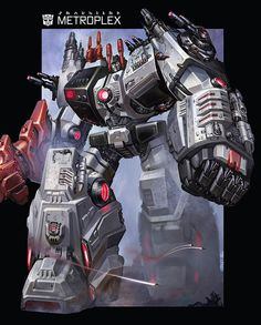 Metroplex art from Transformers: The Fall of Cybertron
