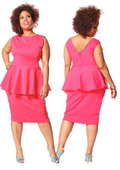 JIBRI Plus Size Peplum Top- V Back  This style peplum might work for me due to its positioning