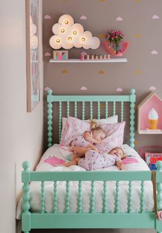 Love the cloud theme for this little girl's room!