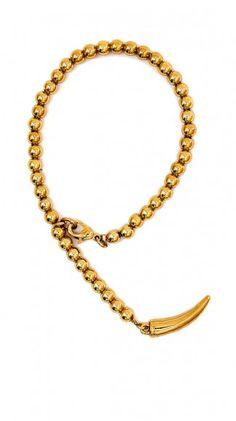 Gold Lucky Horn Bracelet by CC Skye    OMG ADORBZ