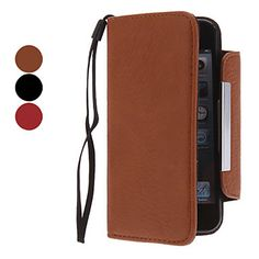 Genuine Leather Case with Card Slot and Wallet for iPhone 5/5S (Assorted Colors) – USD $ 10.99
