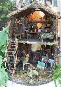 Fairy House. We will DEFINITELY be making some little houses for the fairies in the woods before summer is over!!