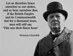 Quick Question on Winston Churchill's