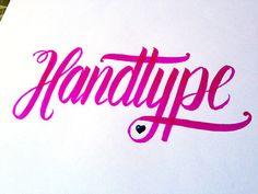 Handtype (Love) Handwritten typography 6.11.14 photohttp://accidental-typographer.tumblr.com/