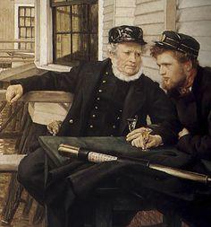 ? Sea Captain, Captain Hat, Sailors, Coaster, The Originals, Hats, Painting, Hat, Painting Art