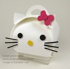Curvy Keepsake – Hello Kitty Created by Carol Lovenstein, pinkstampagne.com Stampin' Up! Idea Papercrafting