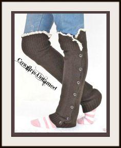 COWGIRL GYPSY LEG WARMERS Lace Crochet with Button Accent Knit Leg Warmer Boot Socks  www.cowgirlsuntamed.com