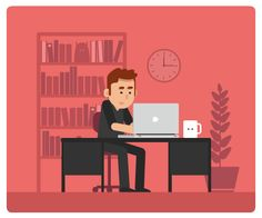 Amusing GIFs Show The Odd Things That Happen At A Designer's Work Desk - DesignTAXI.com