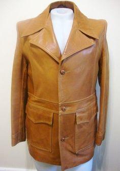 vintage 70's men's oxblood/burgundy leather jacket coat fight club ...