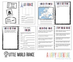 Awesome printable for an exploration of France from home! From Hana at A Happy Adventure