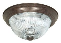 Nuvo SF76608 15Inch Old Bronze Flush Dome with Clear Ribbed Glass >>> Visit the image link more details. (Note:Amazon affiliate link)