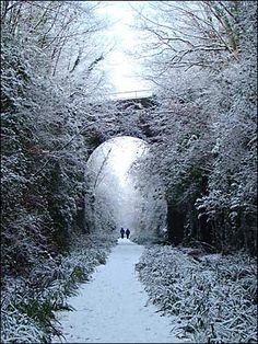 Tavistock, UK in the snow