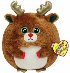 73cb50f3e5cf Amazon.com  Ty Beanie Ballz Mistletoe - Reindeer  Toys  amp  Games Ty