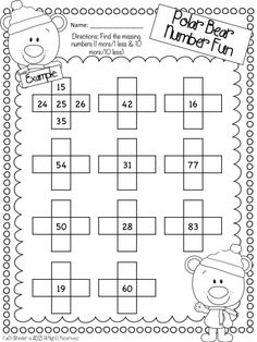 10 More/10 Less Freebie - this is perfect for my 1st graders right now!!!