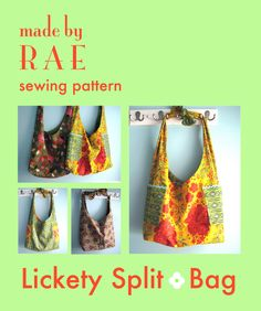 lickety split bag from made by Rae. perhaps my next purse attempt?