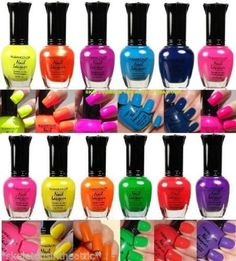 Kleancolor Nail Polish Neon Collection Set of 12 Lacquer Full Size Art OPI >>> Want additional info? Click on the image.