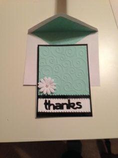 Thank you card inspired by  ahandmadetale.blogspot.com