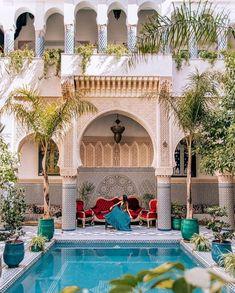 Beautiful Riads in Fez, Morocco Moroccan Design, Moroccan Decor, Moroccan Style, Moroccan Rugs, Morrocan Architecture, Beautiful Architecture, Le Riad, Marrakech Morocco, Morrocan House