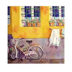 A Morning Walk in Florence Watercolor print by Nancy Laberge Muren