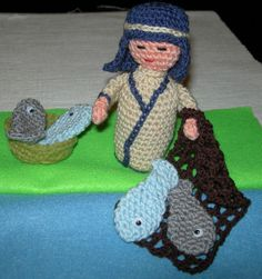 pescador amigurumi