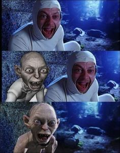 Lord of the Rings - Behind the Scenes Gollum/Andy Serkis Aragorn, Legolas, Gandalf, Fellowship Of The Ring, Lord Of The Rings, Lord Rings, Scene Image, Scene Photo, Gollum Smeagol