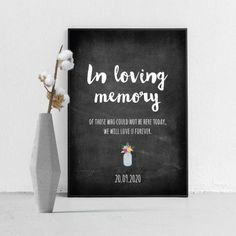 Poster in loving memory krijtbord In Loving Memory, Loving U, Chalkboard Wedding, Chalkboard Quotes, Love U Forever, Letter Board, Art Quotes, Memories, Lettering