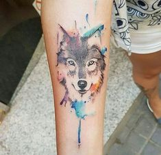 Tattoo watercolor wolf wolves ideas for 2019 Classy Tattoos For Women, Trendy Tattoos, Cute Tattoos, Beautiful Tattoos, Tattoos For Guys, Tatoos, Wolves Tattoo, Husky Tattoo, Aquarell Wolf Tattoo