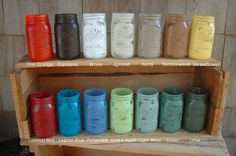Build Your Own PINT size collection of Mason jars by PineknobsAndCrickets, $15.00