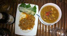 Thai Pomelo Salad (Yam Som-O) & Massaman curry (Kanchanaburi 2015)