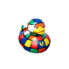 Colored squares rubber duckie