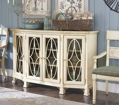 """Moultrie Park Oval Door Console by Bassett Furniture.  Inspired by Charleston """"Finds"""" from the famous antique shops on King Street."""
