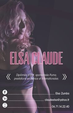 Business Card Elsa Zumba. Back face by Claude Quentin