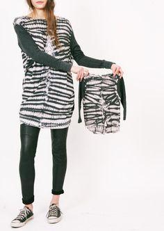 Raquel Allegra — Long Sleeve Pullover Dress Fossil Black