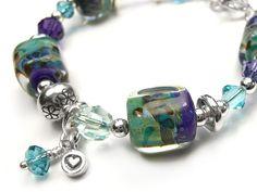 Lampwork Glass Bracelet - Spirit