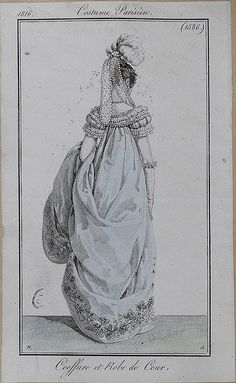 1816 Costume Parisien. Court dress.
