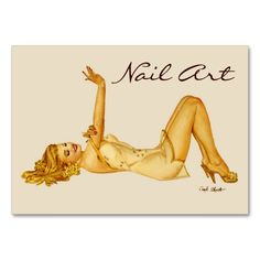Nail Art Vargas Pinup Girl - Business Cards. This is a fully customizable business card and available on several paper types for your needs. You can upload your own image or use the image as is. Just click this template to get started!