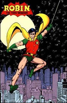 Dick Grayson Robin… New Teen Titans Pin-Up (George Perez) Comic Book Artists, Comic Artist, Comic Books Art, Gotham, The New Teen Titans, Richard Grayson, Arte Dc Comics, George Perez, Comic Kunst