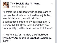 Yep every single job interview where they asked if I had children (I had 2) I…