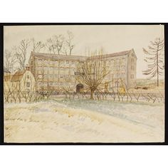 Watercolour - Silk Mills built in 1790, Malmesbury